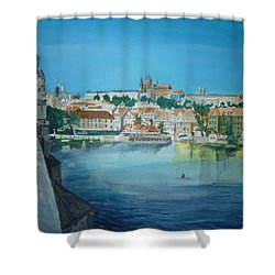 A Scene In Prague 3 Shower Curtain by Bryan Bustard