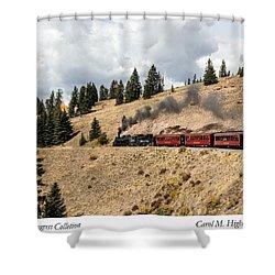 A Scenic Railroad Steam Train, Near Antonito In Conejos County In Colorado Shower Curtain