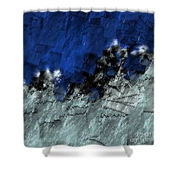 Shower Curtain featuring the digital art A Sea Storm In My Heart by Silvia Ganora