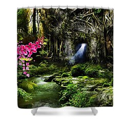 A Secret Place Shower Curtain by Gabriella Weninger - David