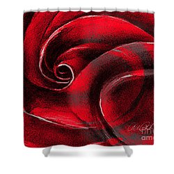 A Shape In Rose Shower Curtain
