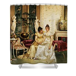 A Shared Confidence Shower Curtain by Joseph Frederick Charles Soulacroix