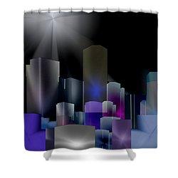A Shining Light Shower Curtain