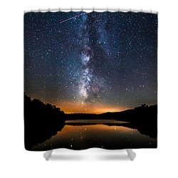 A Shooting Star Shower Curtain by Robert Loe