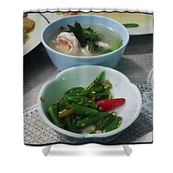 Shower Curtain featuring the photograph A Side Of Tom Yum Goon With Your by Mr Photojimsf