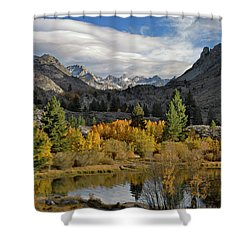 A Sierra Mountain View Shower Curtain by Dave Mills
