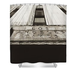 A Sign Of The Times - Vintage Shower Curtain by Mark David Gerson