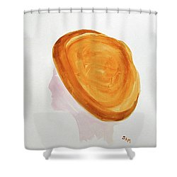 Shower Curtain featuring the painting A Simple Hat by Sandy McIntire