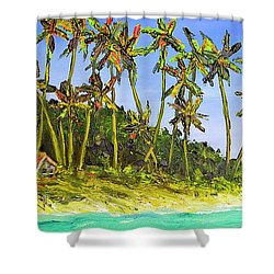 A Simple Life#374 Shower Curtain by Donald k Hall