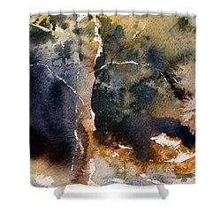 A Simple Tree Shower Curtain by Sandra Strohschein