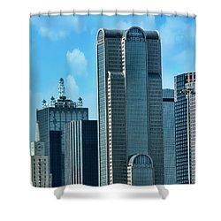 A Slice Of Dallas Shower Curtain by Joan Bertucci