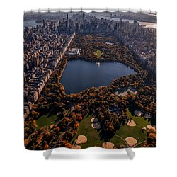 Shower Curtain featuring the photograph A Slice Of New York City  by Anthony Fields
