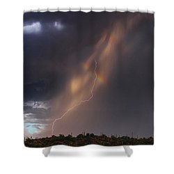 Shower Curtain featuring the photograph A Sliver Of Color by Rick Furmanek