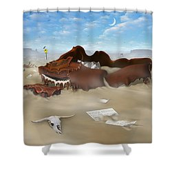 A Slow Death In Piano Valley Sq Shower Curtain