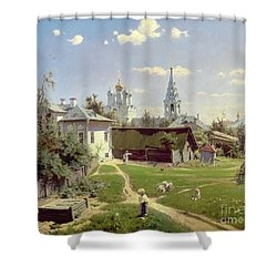 A Small Yard In Moscow Shower Curtain by Vasilij Dmitrievich Polenov