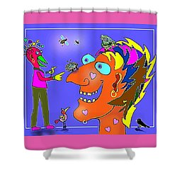 A Smile A Day . . . Shower Curtain by Hartmut Jager