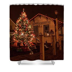 A Smithville Christmas Shower Curtain