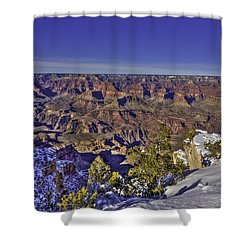 A Snowy Grand Canyon Shower Curtain