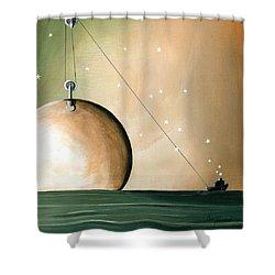 A Solar System Shower Curtain by Cindy Thornton