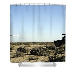 A Soldier Tests His Skill With The Tube Shower Curtain by Stocktrek Images