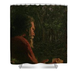 A Soothing Peace Shower Curtain