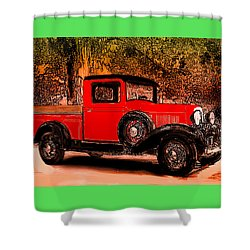 A Southern Ford Shower Curtain by J Griff Griffin