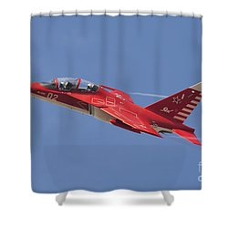 A Special Painted Yak-130 Performing Shower Curtain by Daniele Faccioli