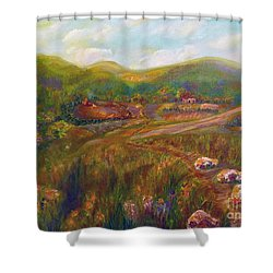 Shower Curtain featuring the painting A Special Place by Claire Bull