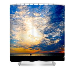 A Speck In The Universe Shower Curtain by Margie Amberge