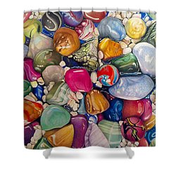 A Splash Of Color And Hardness Shower Curtain
