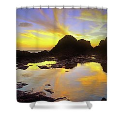 Shower Curtain featuring the photograph A Splatter Paint Sunset by Tara Turner