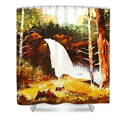 A Spout In The Forest Ll Shower Curtain by Al Brown