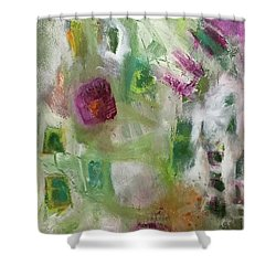 A Spring In Her Step Shower Curtain by Gail Butters Cohen