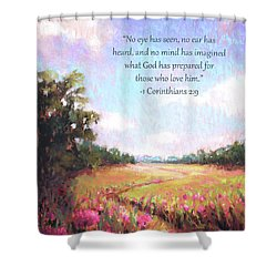 A Spring To Remember With Bible Verse Shower Curtain