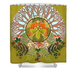 A Squirrel's Tale Shower Curtain by Isobel Brook Haslam