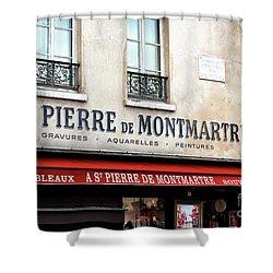 A St. Pierre De Montmartre Shower Curtain by John Rizzuto