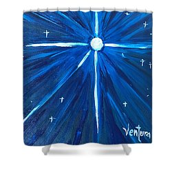 A Star Shower Curtain