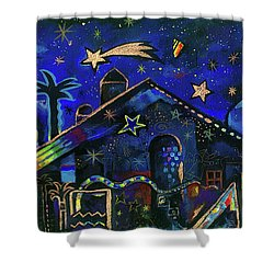 a star in Bethlehem Shower Curtain