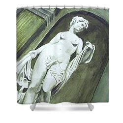 A Statue At The Toledo Art Museum - Ohio Shower Curtain