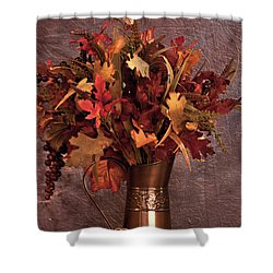 A Still Life For Autumn Shower Curtain by Sherry Hallemeier