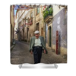 A Stoll In Coimbra Shower Curtain by Patricia Schaefer