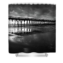 A Storm At Sunrise Shower Curtain by Kelly Hazel