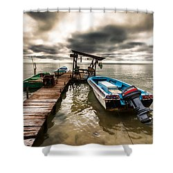 A Storm Brewing Shower Curtain