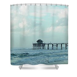 A Storm's Brewing Shower Curtain