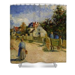 A Street In Pontoise 1879 Shower Curtain