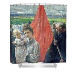 A Strike At Saint Ouen Shower Curtain by Paul Louis Delance