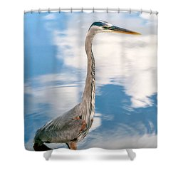Shower Curtain featuring the photograph A Stroll Among The Clouds by Christopher Holmes