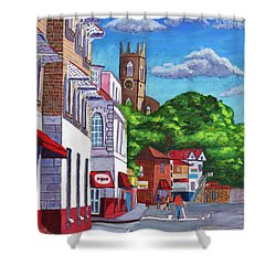 A Stroll On Melville Street Shower Curtain