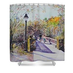 A Stroll On The Bridge Shower Curtain