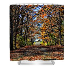 A Stroll Through Autumn Colors Shower Curtain